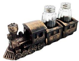 Choo Choo Railroad Train Industrial Locomotive Seasons Salt Pepper Shake... - $19.75