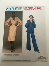 Vogue Paris Original Sewing Pattern Emanuel Ungaro 1444 Evening Dress Pants UC - $22.49