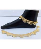 ANKLET BRACELET 22k GOLD PLATED PAYAL SET BOLLYWOOD Fashion INDIAN JEWEL... - $21.38
