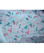 """Abstract Print Mulitcolor Pink, Green, Teal 100% Cotton Fabric  48"""" Wide... - $8.99"""