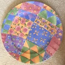 Sango Sue Zipkin Sweet Shoppe Chop Plate Round Platter 0916 Biscuit 12.5... - $24.74