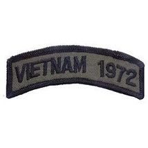 Vietnam 1972 Od Subdued Shoulder Rocker Tab Embroidered Military Patch - $13.53