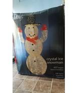 Holiday Crystal  Ice Snowman - $57.01