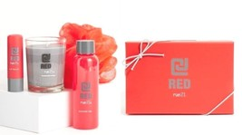 CJ Red Gift Set by Rue 21_1 shower gel, 1 candle, 1 lip balm, 1 shower s... - $498,01 MXN