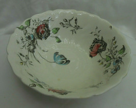 "Johnson Brothers Day In June Flowers Round Serving Bowl 8 1/4"" Rare - $29.44"