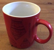 Holiday Christmas Ornament Pattern STARBUCKS Red 12 OZ Coffee Mug Cup 2015 - $5.70