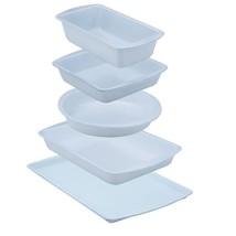 Non-stick Bakeware Set 5pc Ceramic Coated Pans Baking Cookware Kitchen H... - $44.02