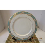 "LENOX BONE CHINA BELLEVUE SEA-GREEN PATTERN DINNER PLATE 10-1/2"" NICE"