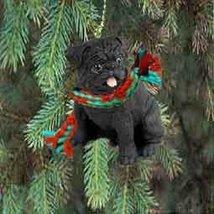 Conversation Concepts 1 X Pug Miniature Dog Ornament - Black - $10.99