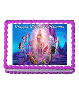 BARBIE A MERMAID'S TALE edible cake image decoration cake topper frostin... - $7.80