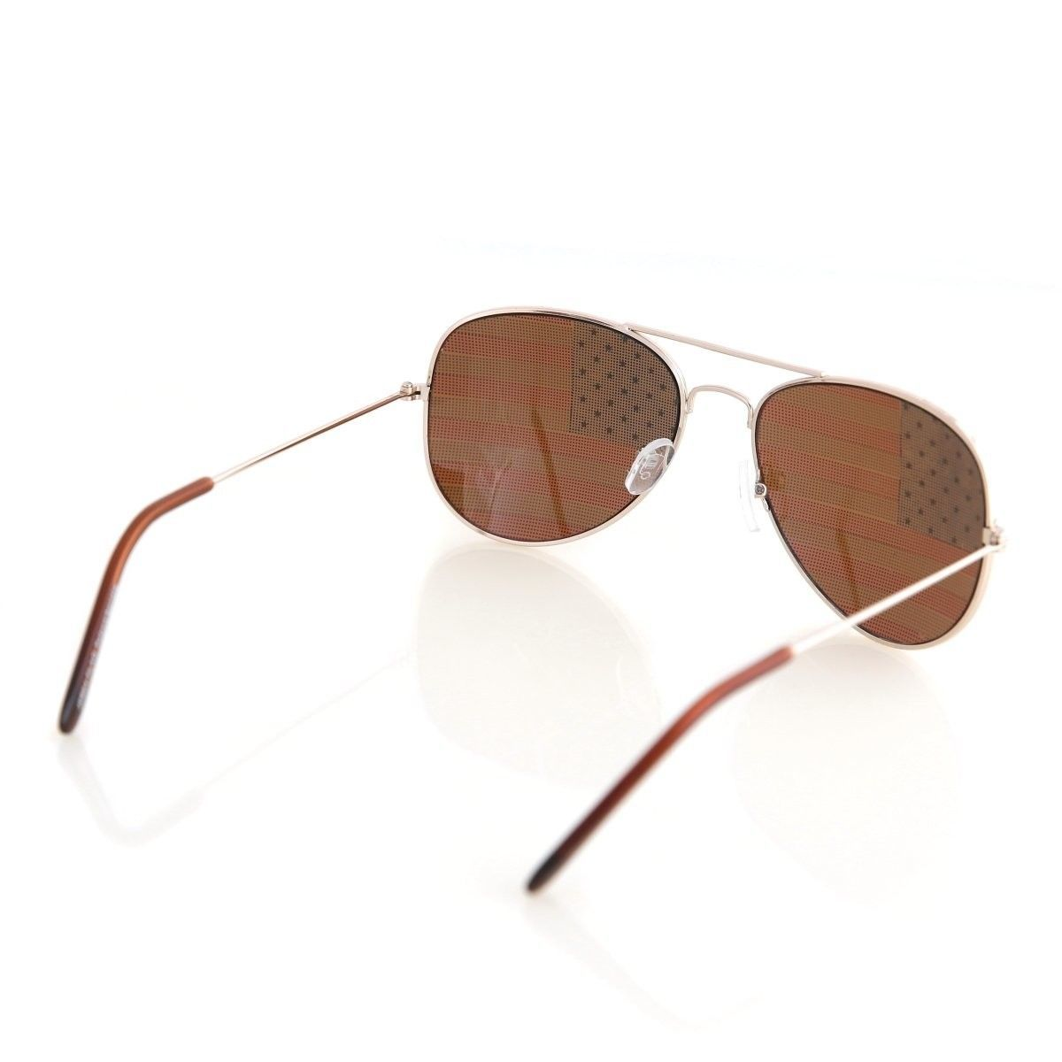 Shaderz USA America Aviator Sunglasses - Great Accesory for 4th of July - Gold C