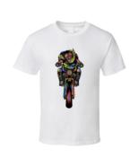 Santa Claus On Bike White T Shirt - $17.99 - $19.99