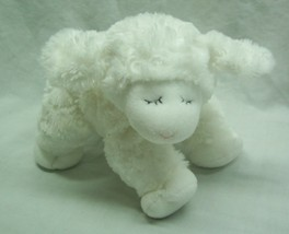 """Baby Gund CUTE SOFT WHITE WINKY LAMB RATTLE 8"""" Plush STUFFED ANIMAL TOY - $14.85"""
