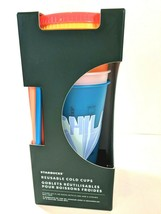 Starbucks Summer 2020 Collection 5pk Reusable Cold Cups 24oz Each New In... - $38.55