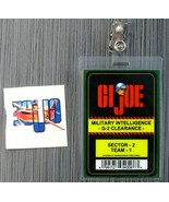 GI JOE CONVENTION ID BADGE Military Intelligence G-2 Clearance + Unused ... - $9.99