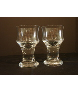 Pair of Sea Glasbruk Orrefors Kosta Boda Sweden Glass Tea /Votive Candl... - $30.00