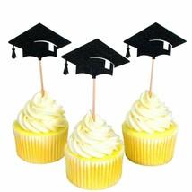 Cupcake Topper Bachelor Hat Cap Graduation Congrats Party Decoration Sup... - $9.49