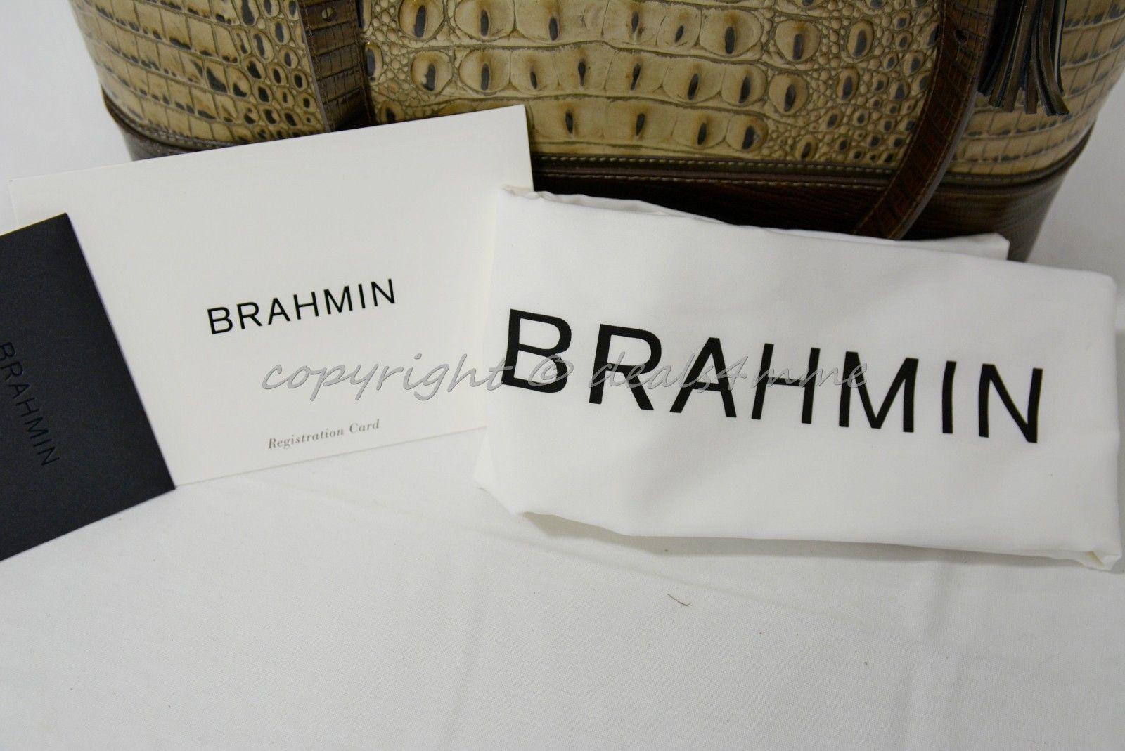 NWT Brahmin Medium Asher Leather Tote/Shoulder Bag Barley Bronte - Beige Brown image 8