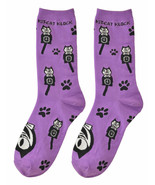 Genuine Kit Cat Klock Casual Funky Women's Purple Socks - $12.95