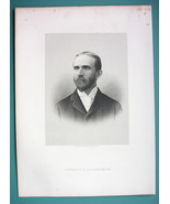 ERNEST ACKERMAN New Jersey Cement Manufacturer - 1895 Portrait Antique P... - $13.86
