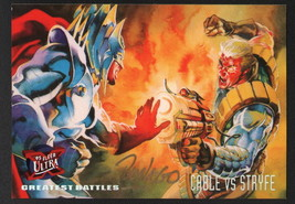Ray Lago SIGNED X-Men Art Trading Card ~ Cable Vs Stryfe 1995 Fleer Ultra - $16.82