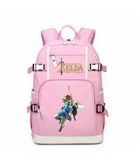 Legend of zelda kid backpack schoolbag bookbag daypack pink large bag f thumbtall