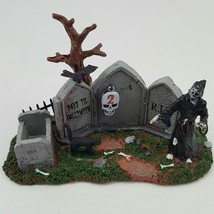 Lemax Halloween Spooky Town Grim Reaper Countdown #43102 Skulls Bat Cat - $18.50