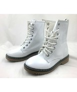 Excellent condition Forever White Ankle Combat Boot Bootie Style US Size... - $9.99