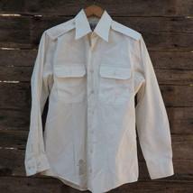 Defense Logistics Agency Garrison Collection 15C White LS Mens Dress Shi... - $9.89