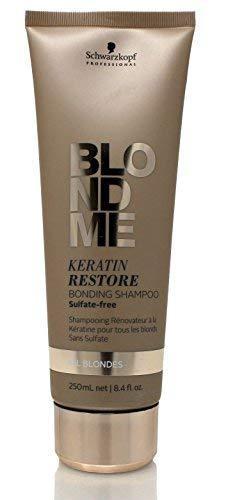 BLONDME Keratin Restore Bonding Shampoo for All Blondes, 8.45-Ounce