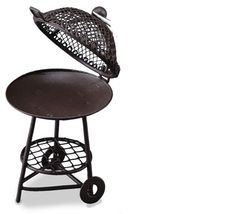 Empty Kettle Barbecue Grill 1.817/9 Reutter Round BBQ DOLLHOUSE Miniature - $12.17