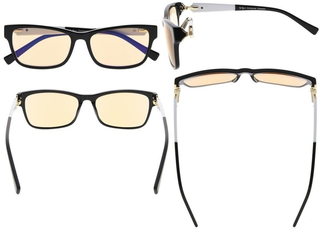 Eyekepper Amber Tinted Lens Optical-Quality Computer Reading Glasses With For