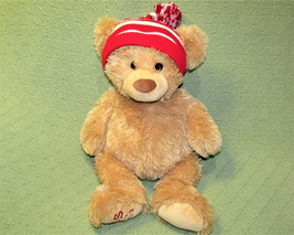 "17"" Gund Aeropostale Teddy Ps Nyc 2013 Bear Stuffed Animal Red White Striped Hat - $17.82"
