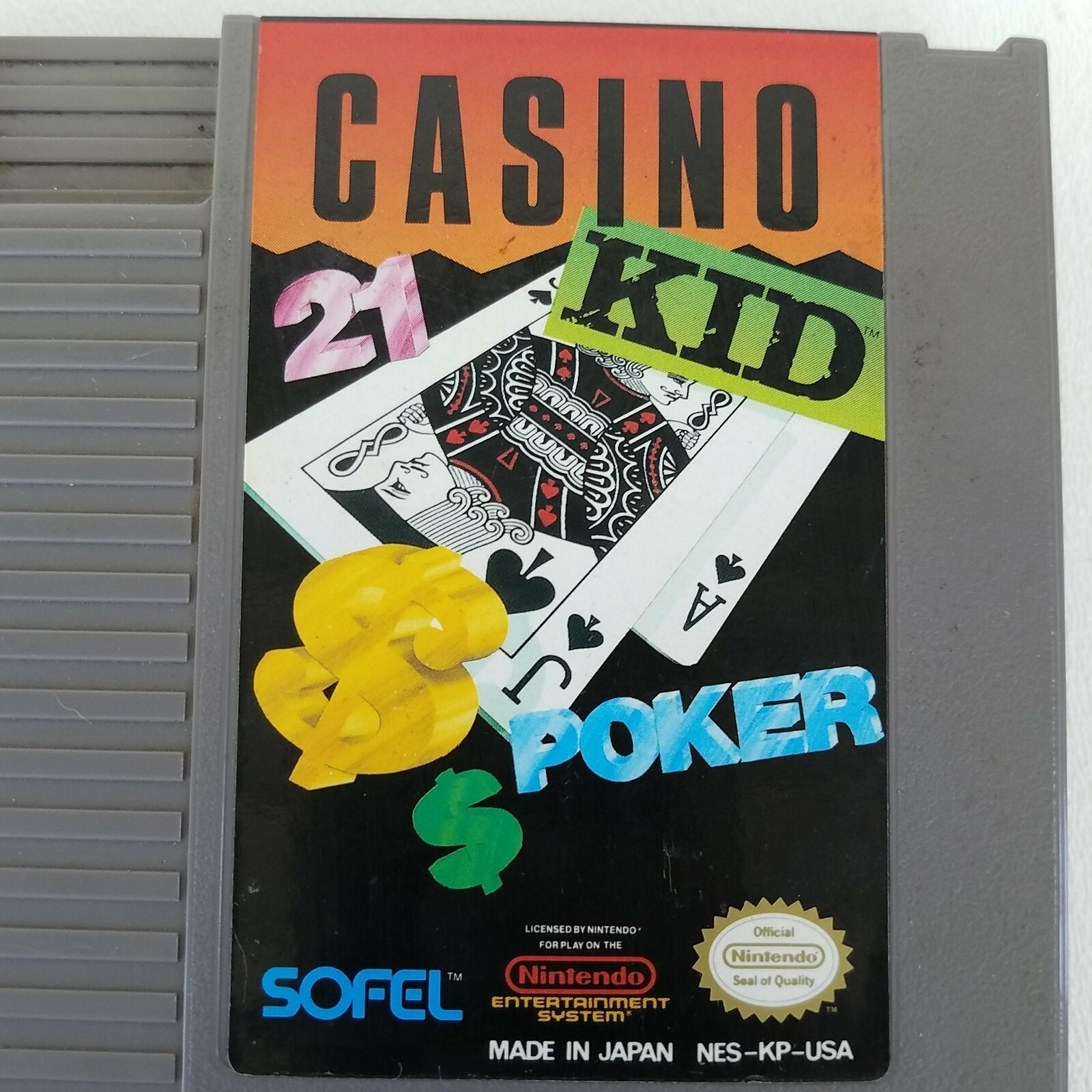 Casino Kid Nintendo NES Video Game Cartridge NES-KP-US