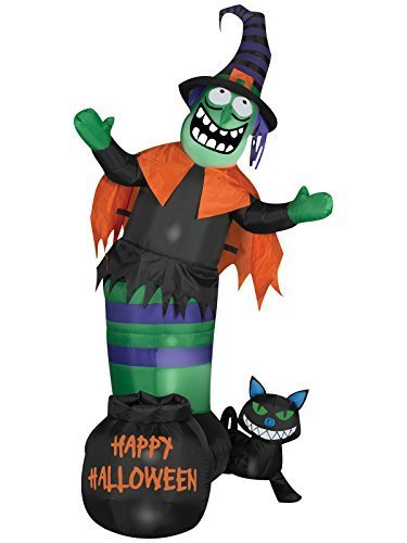 Gemmy Airblown Animated Wobbling Witch Scene Inflatable