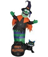 Gemmy Airblown Animated Wobbling Witch Scene Inflatable - £40.94 GBP