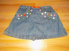 Girl's Size 4 Gymboree Cute As A Button Denim Skort Mini Skirt Buttons EUC - $14.00