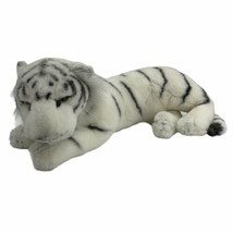 Vintage Westcliff Collection Plush Large Laying White Tiger Made In Korea - $39.55