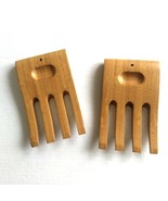 Wooden Salad Hands Servers Wood Set Claws Forks Pasta - $9.89