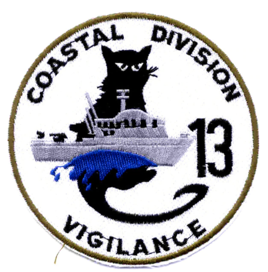 "Primary image for 4"" NAVY COSDIV-13 COASTAL DIVISION THIRTEEN VIGILANCE EMBROIDERED PATCH"