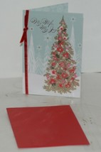 Hallmark XZH 570 1 Wife Christmas Card Christmas Tree Flowers image 1