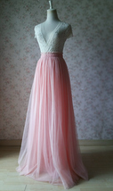 FULL LENGTH Tulle Skirt Bridesmaids Maxi Skirt Flower Girl Wedding Dress Ballet
