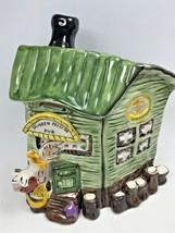 Drunken Pelican Pub Bar Beach House by Blue Sky Glazed Ceramic Tea Light... - $29.95