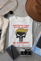 Trump Punisher Skull Logo T-Shirt | Patriotic Graphic Design Tee image 1