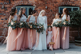 Blush Long Tulle Skirt Blush Wedding Bridesmaid Long Tulle Skirt A-line T1868 image 2