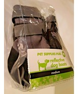 Dog Boots, Reflective, Pack of 4  Size Medium Pet Supplies Plus Brand New  - $16.82