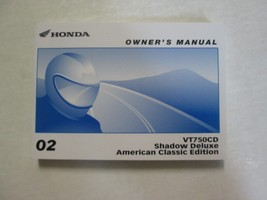 2002 Honda VT750CD Shadow Deluxe American Classic Owners Manual Factory New Book - $64.35