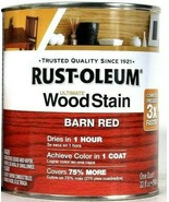 1 Cans Rust-Oleum 32 Oz Ultimate Wood Stain 330108 Barn Red Dries In 1 Hour - $21.99