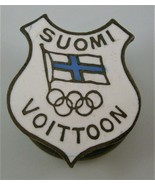 Enameled Lapel Badge for the Canceled 1940 Olympic Games at Helsinki, Fi... - $49.95
