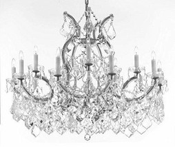Made with Swarovski Crystal Maria Theresa Chandelier Crystal Lighting Chandelier - $704.93